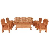 华夏一品缅甸花梨木,大麒麟,花梨木客厅明韵十一件套沙发七件套
