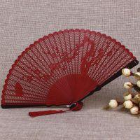 一件代发一品兰中国风全竹扇子雕刻镂空古风折扇女式日式工艺小折