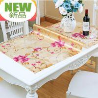 pvc台布塑胶印花磨砂桌垫 胶垫铺桌子桌面软玻璃透明歺桌垫子简约