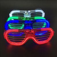 红蓝绿白百叶窗冷光眼镜led发光节日眼镜闪光助威眼镜节日用品