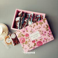 文艺水果片茶包装盒纸盒订做定做燕窝糕鲜花饼包装盒玫瑰花茶包装