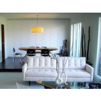 山东波浪板厂家专业定制潮流玄关隔断雕花板商铺橱窗装饰通花板