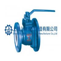 供应衬氟放料球阀Q41FL-16C 手动法兰球阀厂家上海上州
