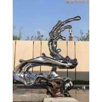 水浪雕塑不锈钢镜面水浪雕塑