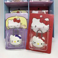 儿童密码锁奶爸小黄人卡通造型kitty龙猫小猪小熊背包锁迷你挂锁