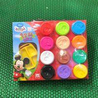 新款包装ds-1602迪士公主彩泥盒装12杯补充装橡皮泥益智玩具批发