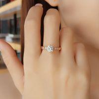 厂家直销925银戒指女六爪镶嵌皇冠戒指韩版活口戒指女友礼物