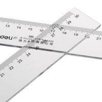 得力30cm厘米塑料直尺6230 绘图制图工具 学生用品透明文具尺子