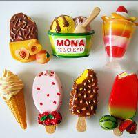 树脂冰箱贴定制 3D立体仿真雪糕食品冰淇淋树脂磁性冰箱贴定制logo