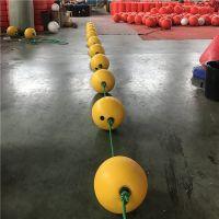 中间穿绳子塑料浮球龙舟赛道标识浮子设计