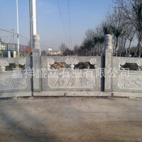 常年加工定做优质石雕栏杆 别墅石栏杆 仿古石头栏板