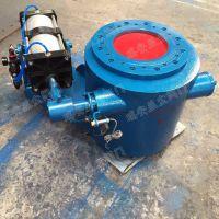 PZQ648MX球面偏置式气动钟阀 益尘钟型卸灰阀DN300