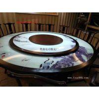 佛山电动餐桌生产厂家 供应餐厅桌椅 实木电动雕花桌 电动大圆桌