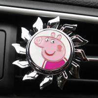 小猪佩奇汽车出风口香水摆件车载香薰香片创意空调风口装饰香膏夹