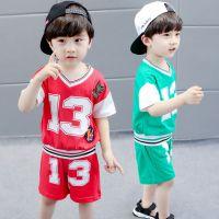 童装一件代发2018夏装新款儿童运动套装潮 幼儿园宝宝六一演出服