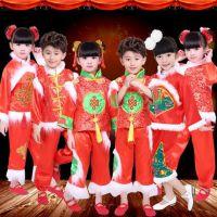 元旦喜庆儿童演出服秧歌服表演服女童幼儿中国民族红灯笼舞蹈服装