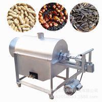 电加热干果炒货机 全自动温控滚筒炒料机 加热均匀板栗炒货机