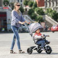 宝仕儿童三轮车脚踏车1-3-5岁折叠转向婴儿手推车宝宝童车自行车