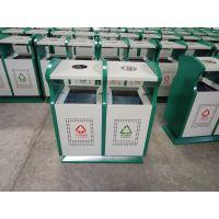 甘肃旅游景区垃圾箱 分类垃圾桶 厂家直销各种户外钢板垃圾桶
