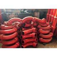 泵车耐磨弯管 通体满堆耐磨焊条