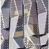 银灰色压型吸音装饰冲孔板//2.5氟碳喷涂冲孔铝板幕墙