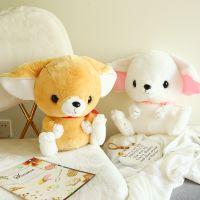 创意仿真九尾狐公仔毛绒玩具可爱白狐狸玩偶布娃娃儿童节生日礼物