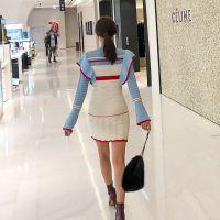 艾安琪深圳大码外贸女装尾货批发市场在哪 替莫女装折扣批发尾货卡其色皮草