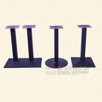 餐铁新款磨砂艺桌子腿吧台脚不锈钢桌架圆形长方形支架复古餐桌脚