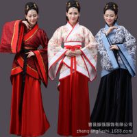 古装汉服改良演出服襦裙女装唐装毕业典礼服装传统古代戏剧表演服