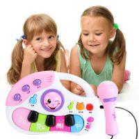 儿童多功能手提电子琴 带话筒麦克风6大模式儿歌故事早教钢琴乐器