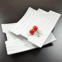 高档仿瓷餐具牛排盘创意白色火锅烤肉盘子韩式料理密胺糕点包邮