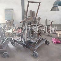 单人操作水泥砖机 投资小型免烧制砖头机械的项目