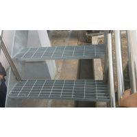 四川电厂平台盘梯踏步板 Q235材质镀锌钢制脚踏板 成都钢格板踏步厂家