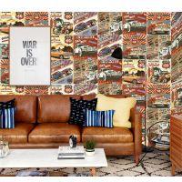 红枫瓷砖贴纸欧式复古仿古小花砖300*300瓷砖艺术彩色陶瓷 手绘花砖