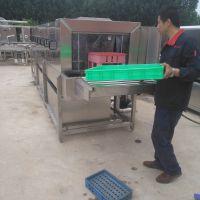 汇康牌隧道式洗箱机 回收箱清洗流水线 多功能洗筐机