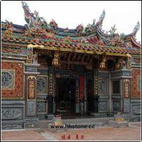 佛寺古庙门面石雕(祠堂墙面石材浮雕)古建石雕厂