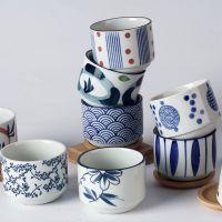 日式和风多肉小花盆批发高温陶瓷复古青花瓷手绘花盆创意桌面爆款