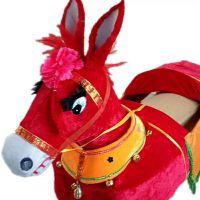 跑毛驴毛驴舞闹元宵道具舞龙舞狮道具民俗表演道具秧歌舞钢丝毛驴