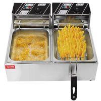 电炸炉商用单缸快速炸薯条机炸土豆机炸鸡柳机器炸鸡排设备油炸锅