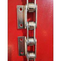 不锈钢非标滚子链条定制 弯板双节距大滚子输送链条C2062传动链