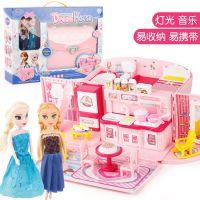 儿童煮饭过家家厨房玩具 女孩厨具餐具益智过家家玩具 餐厨台