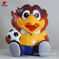 定制搪胶足球公仔 出口日本吉祥物摆件儿童零钱罐装饰品
