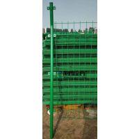 双边丝护栏网 浸塑铁丝高速公路防护围栏网 圈地围栏 果园护栏网