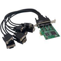 PCIe 8串口卡 PCIe转RS232扩展卡 COM DB9 多串口卡 1拖8串口卡