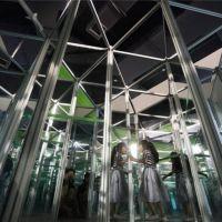 2018大型镜子迷宫游乐设备玻璃钢底座彩色灯光效果魔幻迷宫厂家