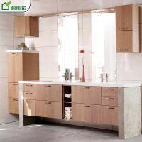 厂家生产双饰面简约现代刨花板卫浴柜浴室毛巾折叠洗涮柜台