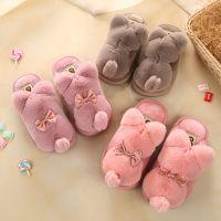 高氏路新款背影猫儿童棉拖鞋抽象卡通防滑可爱男女童宝宝居家棉鞋