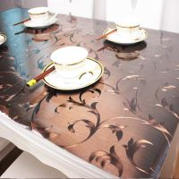 四叶草图案软质玻璃防滑隔热加厚餐桌透明桌垫圆桌pvc桌布防水