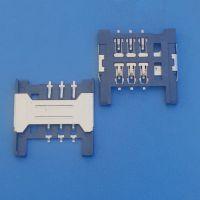 厂家直销 NANO工字简易卡座 3*2pin 内焊 手机卡内存卡 H=1.8MM