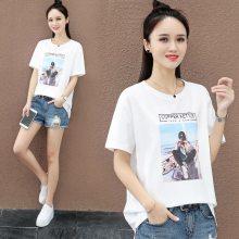 2019韩版女装短袖批发 地摊货源 外贸女装原单尾货 学生短袖女式T恤